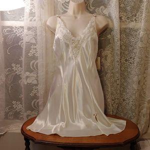 NWT vintage 90s white chemise slip nightie